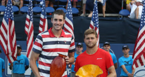 2018 BB&T Atlanta Open Champion John Isner (left) and finalist Ryan Harrison.
