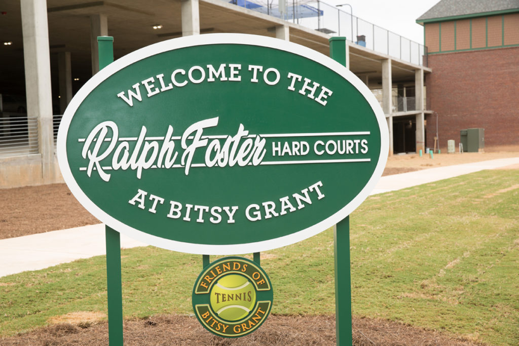Bitsy Grant's new hard courts were named in honor of Ralph Foster.
