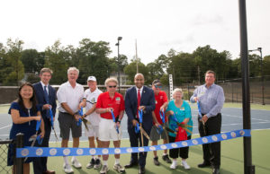 The ribbon-cutting ceremony for the new Bitsy Grant courts.