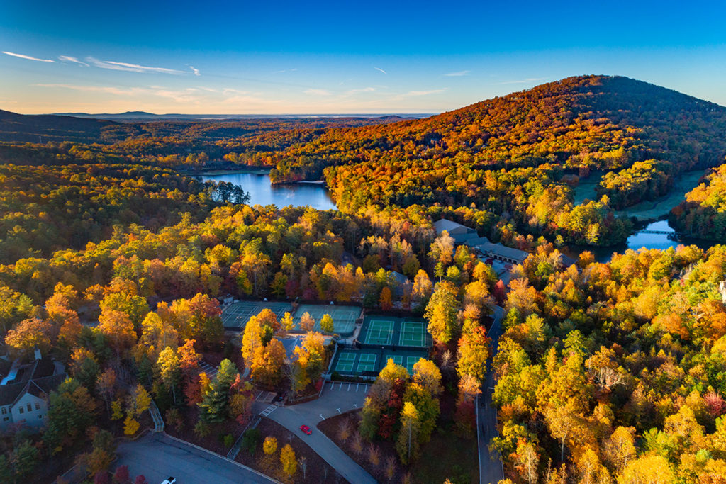 Aerial view of Big Canoe in Georgia
