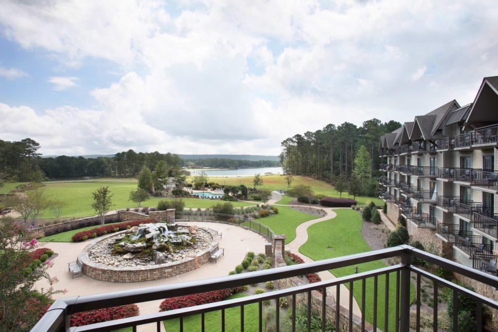 Lodge Lake View Room Balcony View at Calloway Gardens