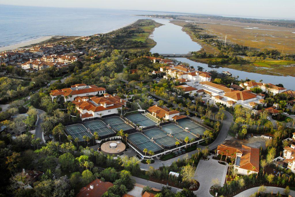 Aerial view of Sea Island Resort