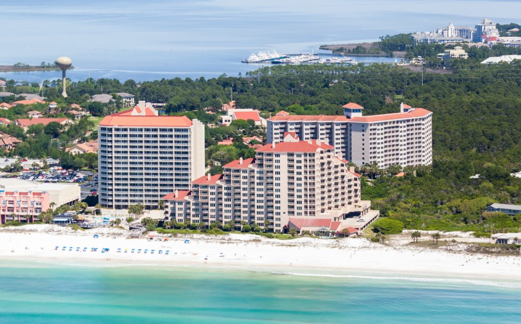 Aerial view of TOPS'L Beach and Racquet Resort